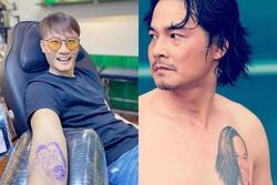 Sao Việt chơi lớn 'khắc' mặt người tình lên cơ thể