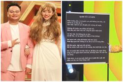 Vinh Râu công khai không thuộc nhạc của vợ cũ trên sóng truyền hình
