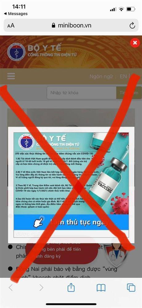 Thủ đoạn giả mạo website Bộ Y tế lừa đảo người khó khăn hưởng trợ cấp Covid-19-2