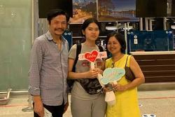 NSND Trung Anh rối bời khi tiễn con gái 18 tuổi xuất ngoại