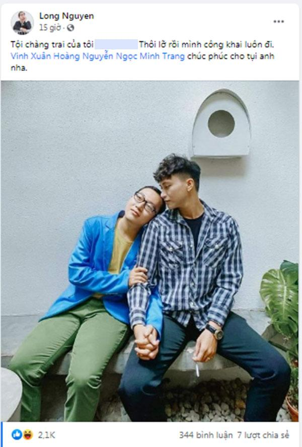 Vinh Râu trực tiếp xin lỗi bạn trai mới của Lương Minh Trang-3