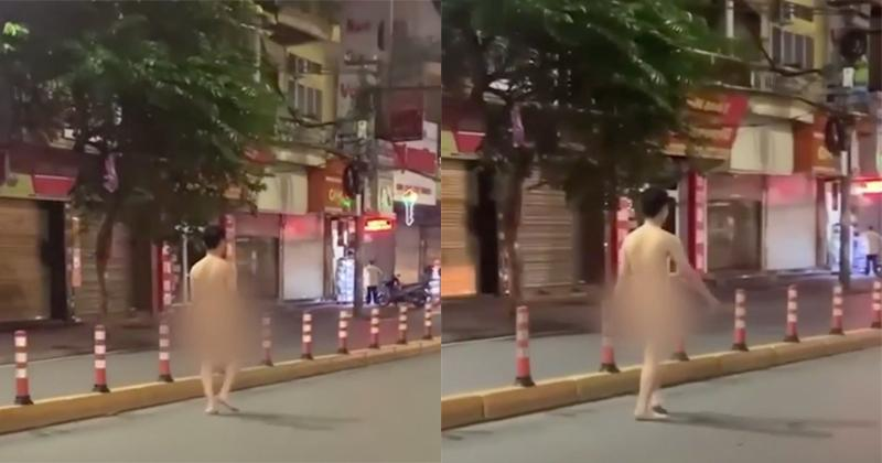 Clip: Thanh niên trần như nhộng, ung dung đi bộ giữa phố Hải Phòng-1