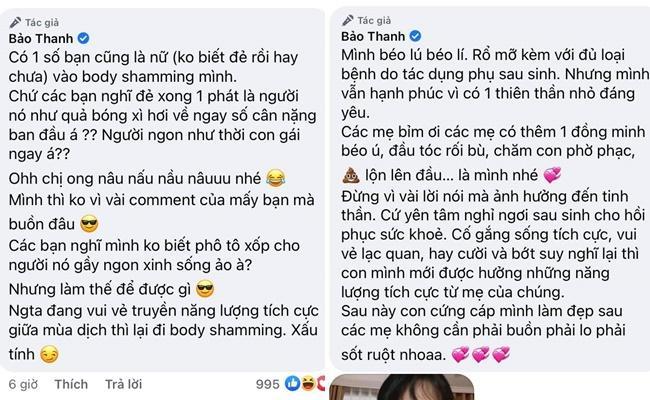 Bảo Thanh, Hà Hồ, Phan Như Thảo bị miệt thị ngoại hình sau sinh-2