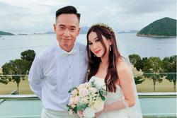 Ôn Bích Hà mặc váy cô dâu, tiệc sinh nhật tưởng đâu tiệc cưới