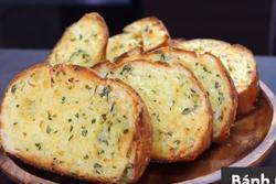 10 phút làm bánh mì nướng bơ tỏi bằng nồi chiên không dầu