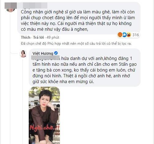 Bị chê từ thiện làm màu, Việt Hương tuyên bố biến mất kèm 1 điều kiện-2