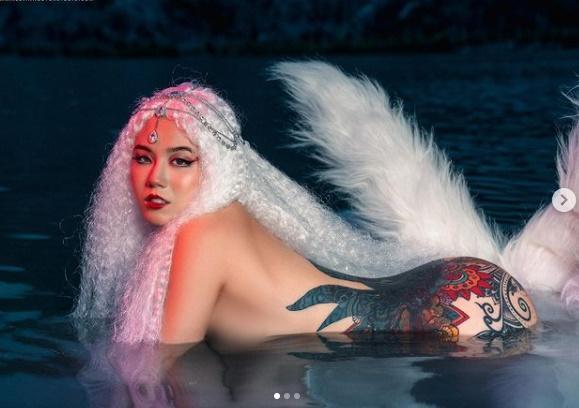 Linh Miu hóa hồ ly tinh, nude toàn tập lộ hình xăm khủng vòng 3-1