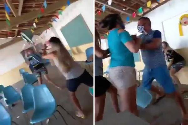 Clip: Chồng lén đưa bồ đi tiêm vắc xin, vợ lao vào đánh ghen tới tấp-1
