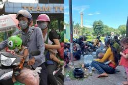 Hành trình 1.400 km chạy xe máy về quê của người nghèo tha hương