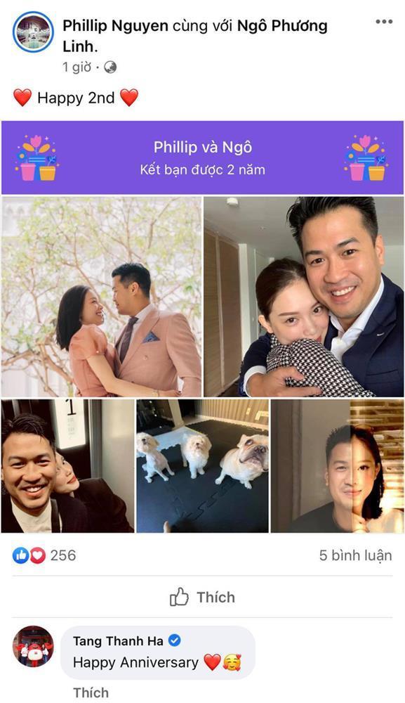 Phillip Nguyễn kỷ niệm 2 năm yêu Linh Rin, Hà Tăng lập tức bắn tym-1