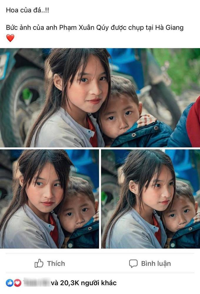 Phát sốt gương mặt bé gái Hà Giang cực xinh bế em bên đường-1