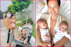 'Bố bỉm' Kim Lý xuống sắc chóng mặt từ khi có cặp sinh đôi Lisa - Leon