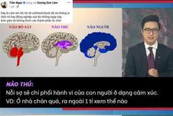 MC Trần Ngọc 'lửa cháy đổ thêm dầu' khi VTV ví von 'não người, não thú'