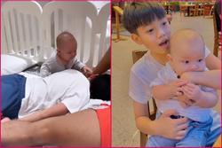 Tan chảy khoảnh khắc Subeo chơi với 2 con riêng của Hà Hồ - Kim Lý