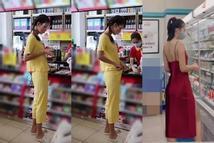 Bắt gặp Minh Tú đi siêu thị: Đen nhẻm, lép kẹp, siêu mẫu đây sao?