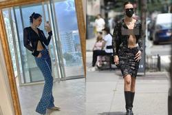 Diện mốt áo cài 1 cúc: Chi Pu lộ nội y - Bella Hadid phô điểm nhạy cảm