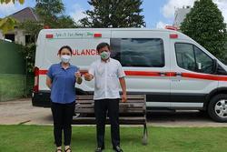 Nói là làm, Việt Hương chính thức tặng xe cứu thương gần 2 tỷ