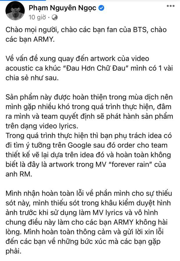 Ca sĩ Việt bị tố đạo 90% MV của RM: Xử lý nhanh, mắng ARMY thiếu văn hóa-2