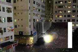 Bé gái rơi xuống từ chung cư HH Linh Đàm tử vong thương tâm