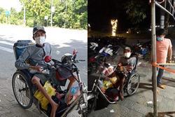 Xót xa chàng trai bán vé số đi xe lăn 7 ngày từ TP.HCM về Phú Yên
