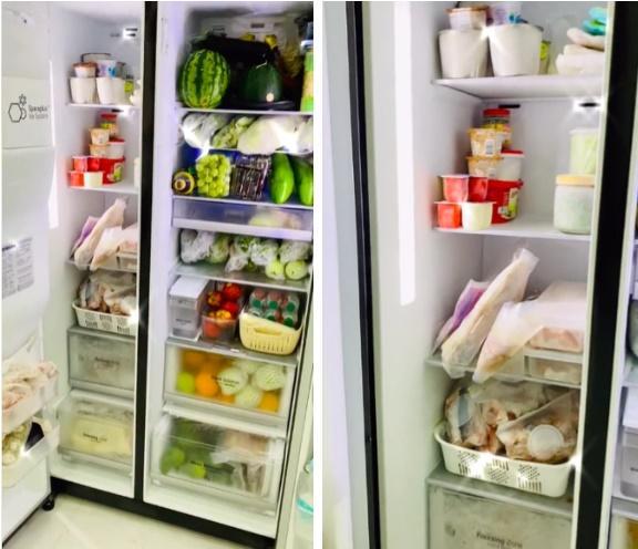 Chiếc tủ lạnh chuẩn đại gia mùa dịch: Giá gần 50 củ, đồ ăn chất như núi!-3