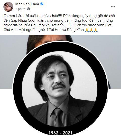 Đồng nghiệp bàng hoàng khi nghệ sĩ Giang Còi qua đời-7