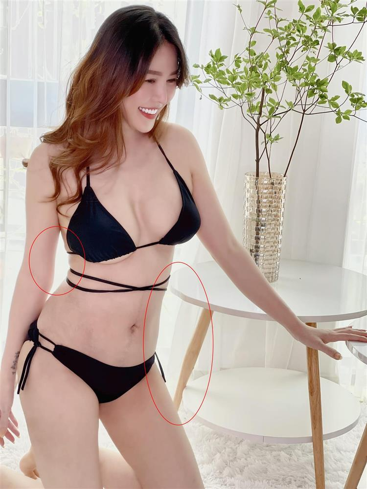 Nôn khoe body 1 tháng sau sinh, Quế Vân bị soi photoshop quá đà-3
