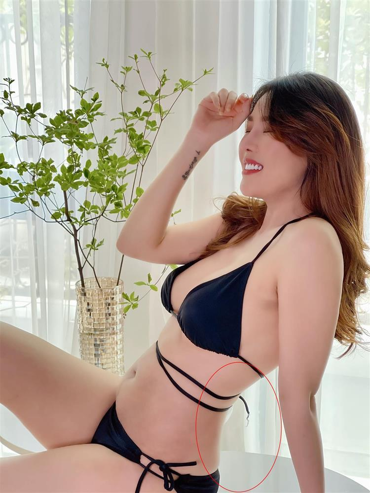 Nôn khoe body 1 tháng sau sinh, Quế Vân bị soi photoshop quá đà-6