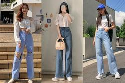 Muôn kiểu mix đồ với quần jeans ống rộng chuẩn style gái Hàn