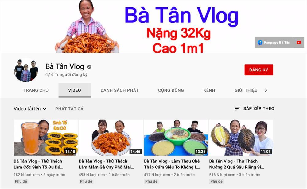 Thu nhập shock từ Youtube của bà Tân Vlog sau 2 năm nổi tiếng-2