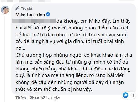 Tình chuyển giới của Miko Lan Trinh bị ném đá bài đăng sinh sản-7