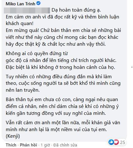 Tình chuyển giới của Miko Lan Trinh bị ném đá bài đăng sinh sản-8
