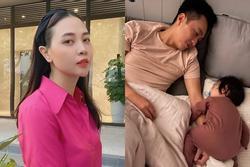 Đàm Thu Trang 'ghen ra mặt' khi Suchin dám 'ôm chồng mẹ ngủ'