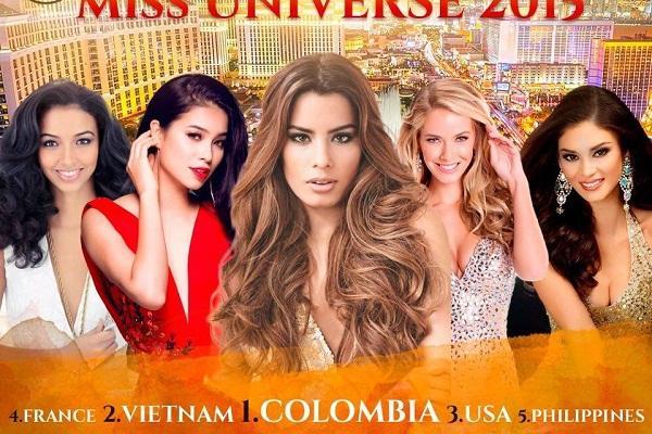 BXH Miss Universe 2015 bị 'đào mộ', Phạm Hương 'sai quá sai'