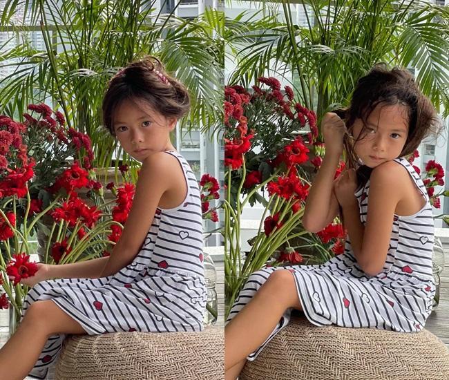 Con gái Đoan Trang tạo dáng xuất thần, xả dáng vẫn đẹp như thơ-11