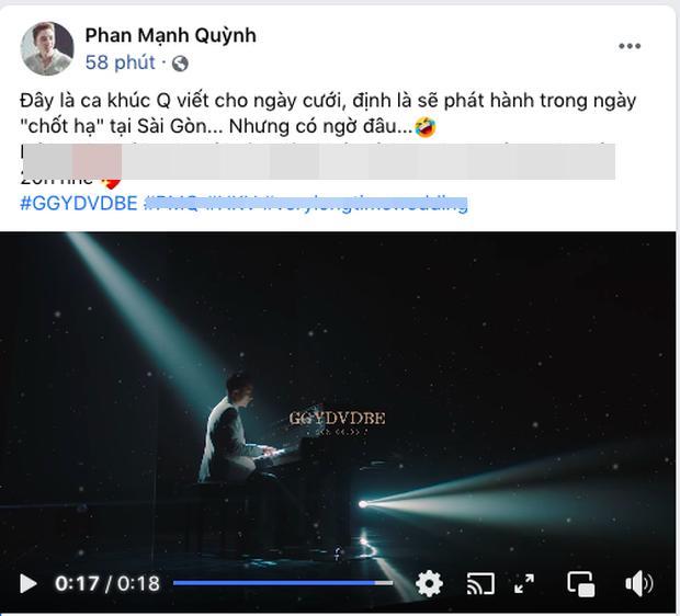 Phan Mạnh Quỳnh thả thính ca khúc suýt chốt hạ cho ngày cưới-2