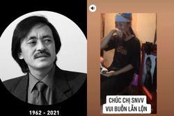Cảnh gia đình cố nghệ sĩ Giang Còi đón sinh nhật trong nước mắt