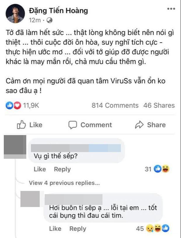 ViruSs bày tỏ thất vọng sau loạt tin nhắn bị Jack gọi là NÓ-2