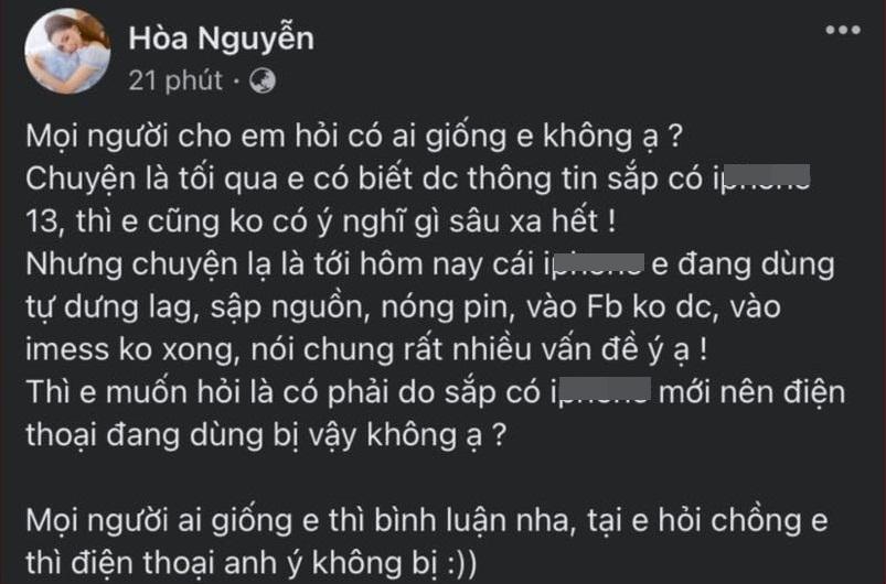 Hòa Minzy mồi chồng mua cho điện thoại mới, bị nói chưa đủ khôn-1