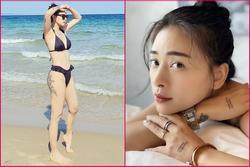 Ngô Thanh Vân khoe hình xăm siêu khủng ở vòng 3 khi diện bikini