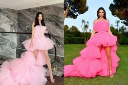 Lương Thùy Linh bị nghi mặc váy nhái Kendall Jenner