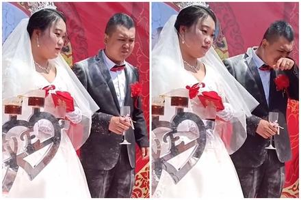 Clip: Chú rể bị hội bạn tạt bột mì tới tấp để chúc mừng đám cưới