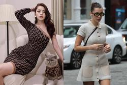 Diện váy len body: Chi Pu gợi cảm, Bella Hadid thanh lịch bất ngờ