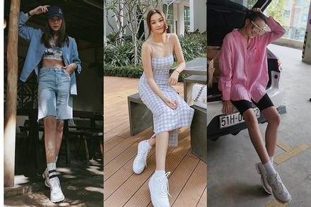 Mix đồ với sneaker từ cá tính tới ngọt ngào như Thanh Hằng