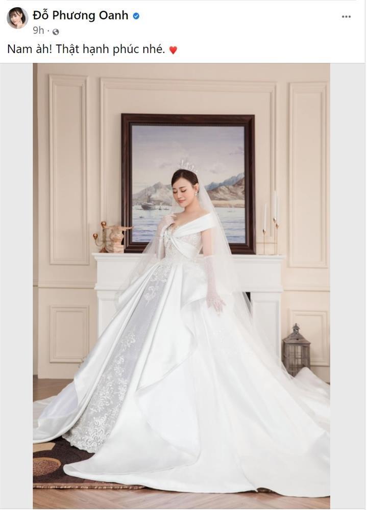 Phương Oanh khoe hình cô dâu, fan thiết kế luôn thiệp cưới xịn xò-3