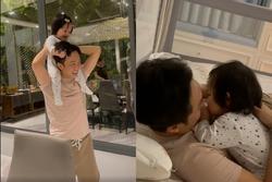 Mẹ đẻ Đàm Thu Trang xót xa khi cháu ngoại ốm