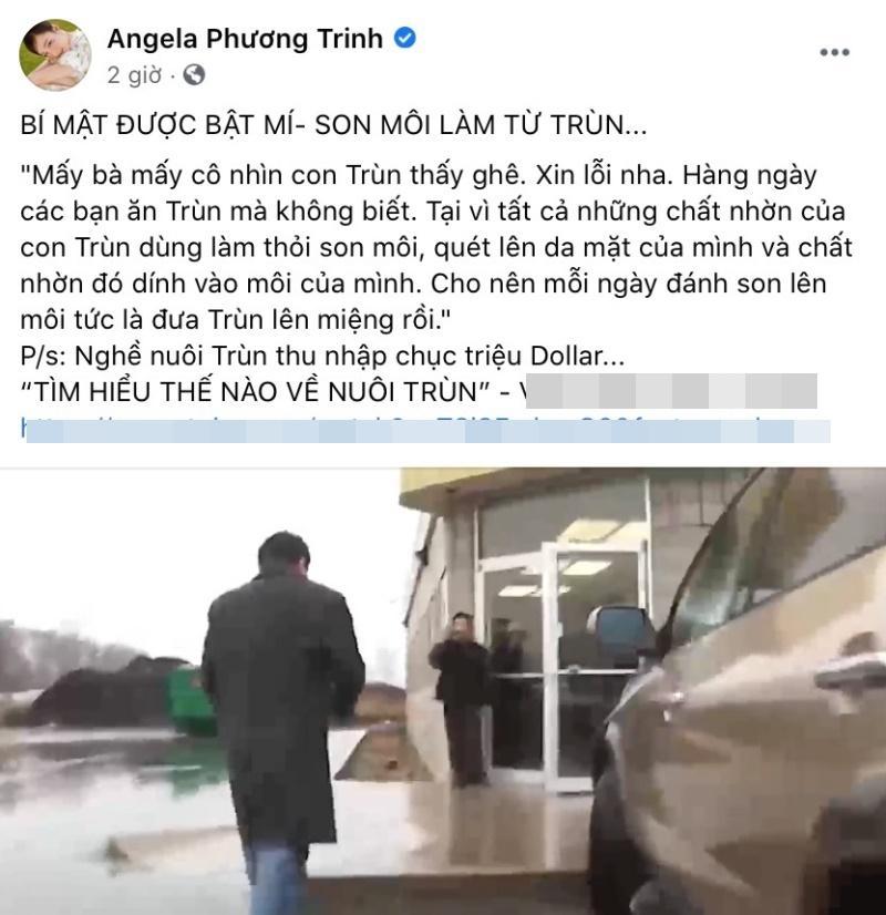 Angela Phương Trinh gây sốc với thông tin son môi làm từ trùn