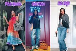 Minh Tú mặc gì khi đi du lịch các thành phố lớn ở Việt Nam khi hết dịch