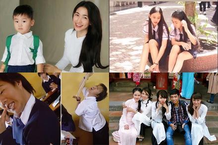 Sao Việt khai giảng: 'Trùm cuối' Hòa Minzy nhìn như chị của con trai