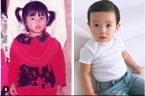 Con trai thứ hai của Phạm Hương có đặc điểm giống anh cả như lột-10